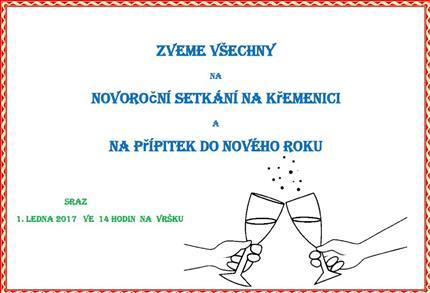 Pozvánka na novoroční výstup na Křemenici